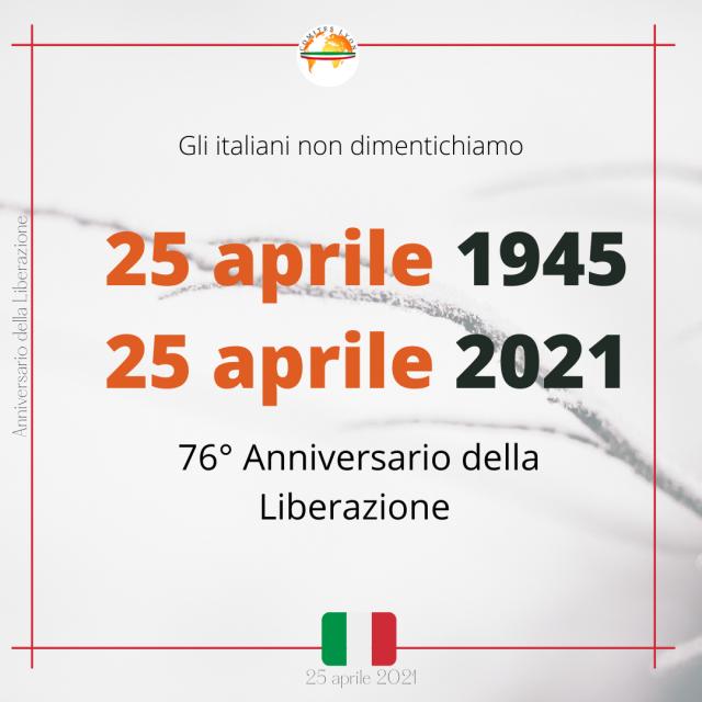 76° Anniversario della Liberazione